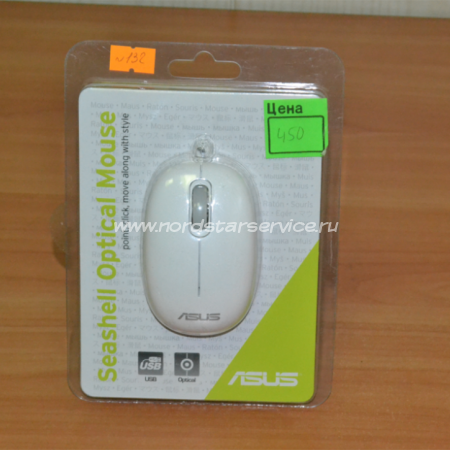 Компьютерная Мышь ASUS Seashell KR white USB